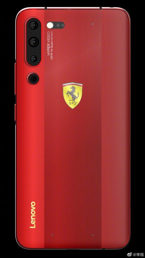 Ο VP της Lenovo παρουσιάζει εικόνα του Lenovo Z6 Pro Ferrari Edition 1