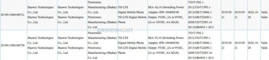 Με νέα πιστοποίηση εμφανίστηκε το Huawei Nova 5 και υποστηρίζει γρήγορη φόρτιση 40W 1