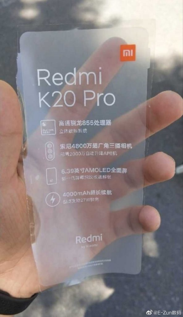 Υποτίθεται πως το Redmi K20 Pro με S855 μπορεί να είναι το Pocophone F2 2