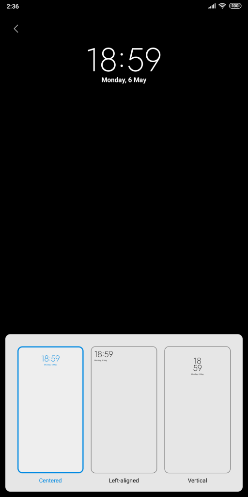 H Xiaomi προσθέτει τη δυνατότητα προσαρμογής του ρολογιού της οθόνης κλειδώματος 2