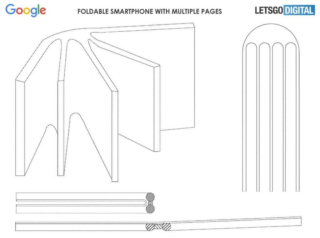 Τα διπλώματα ευρεσιτεχνίας της Google φανερώνουν ένα Crazy Foldable Design Phone με τέσσερις οθόνες 1