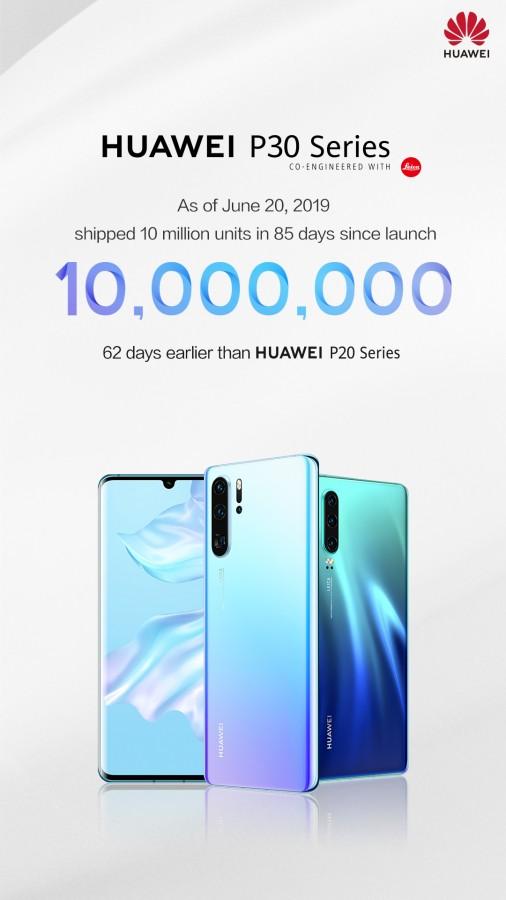 Η σειρά Huawei P30 φτάνει τις 10 εκατ. πωλήσεις σε 85 ημέρες! 1