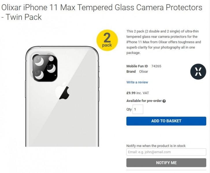 Το τετράγωνο πλαίσιο κάμερας για το iPhone 11 επιβεβαιώθηκε και πάλι 1