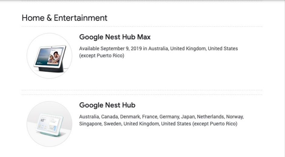 Google Nest Hub Max release date