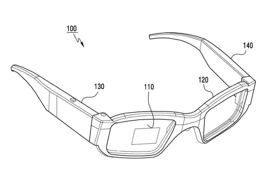Illustrations from Samsungs patent application for smartglasses 2