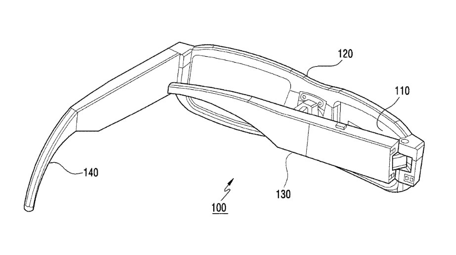 Illustrations from Samsungs patent application for smartglasses 3