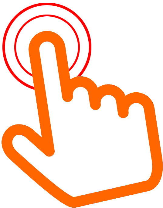 orange click here hand png 8