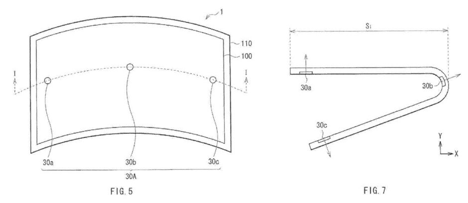 sony flexible display sensors