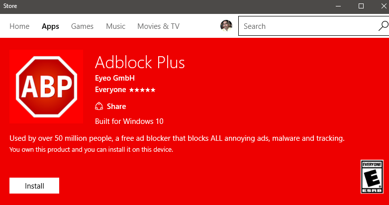 9581 adblock plus install windows 10