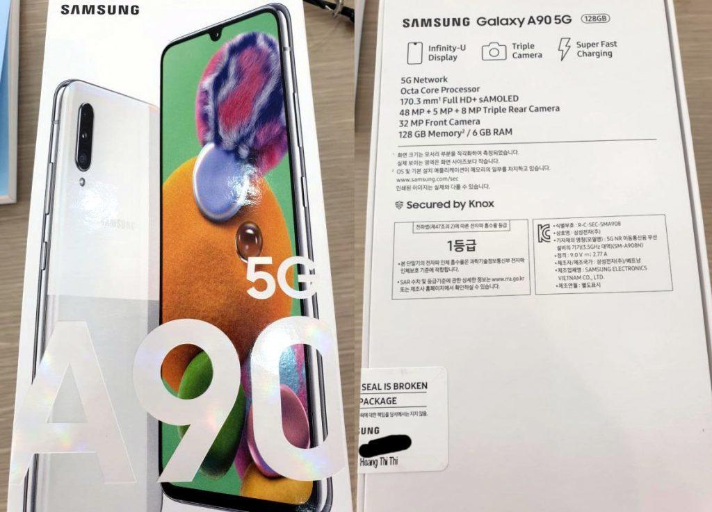 Samsung Galaxy A90 5G leak 1024x737