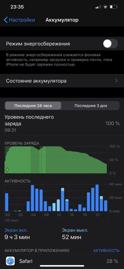 iphone 11 pro max battery life chart