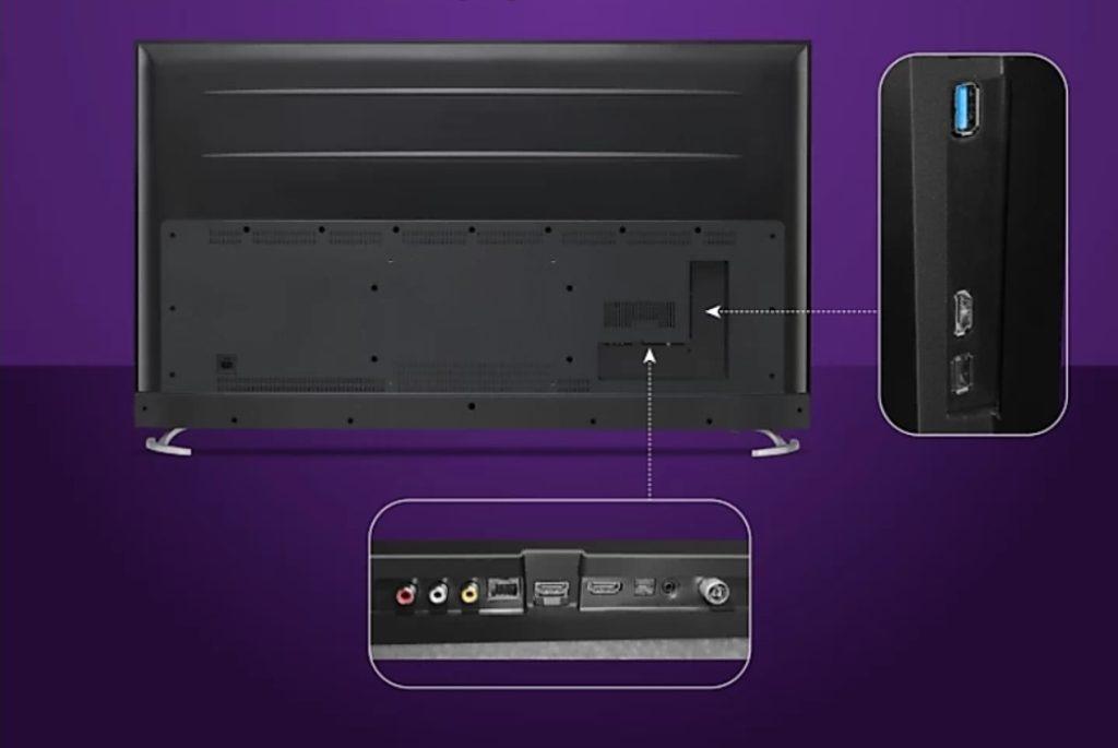 Motorola 75 inch 4K TV ports