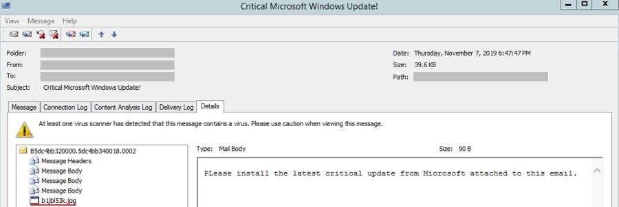 ΠΡΟΣΟΧΗ! Αποφύγετε τις ενημερώσεις που σας συστήνονται μέσω email για τα Windows 10, είναι παγίδα 1