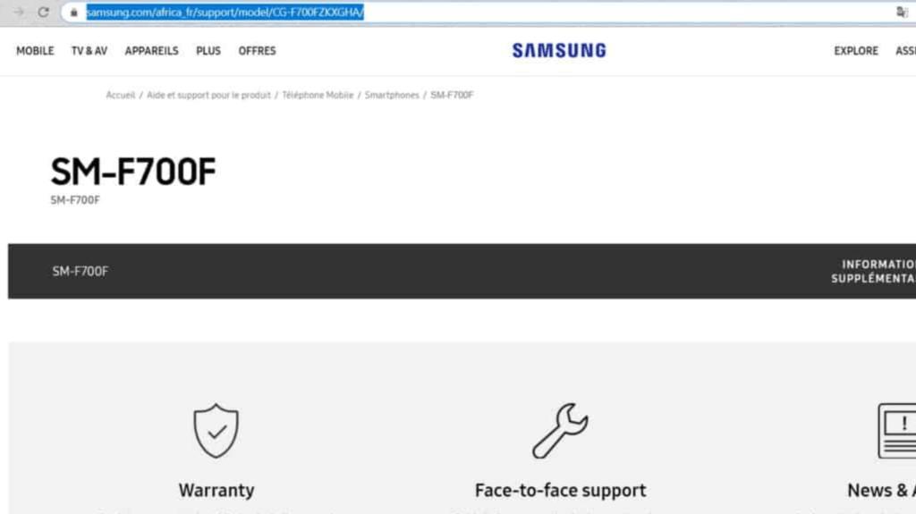Απροειδοποίητα, το Samsung Galaxy Fold 2 εμφανίστηκε στο website της Samsung Africa 1