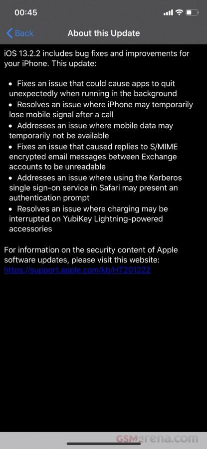 Η ενημερωμένη έκδοση του iOS 13.2.2 επιδιορθώνει το θέμα διαχείρισης εφαρμογών στο παρασκήνιο 2