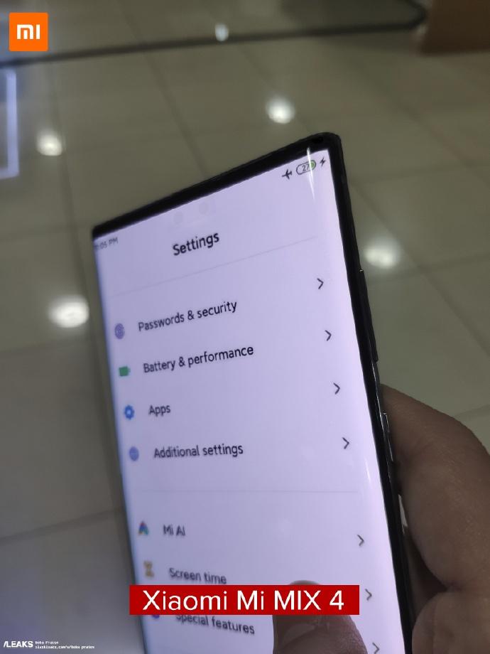 Αν και η Xiaomi διευκρινίζει πως είναι fake το υλικό, υπάρχει νέα διαρροή για το Mi Mix 4 1