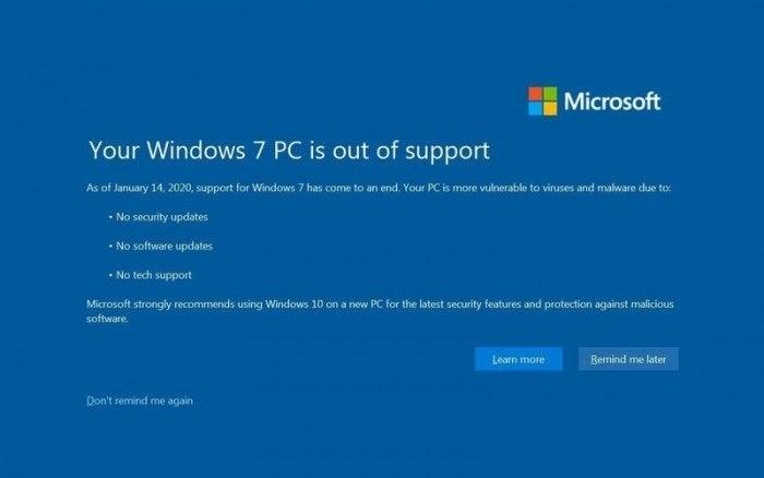 Παύει η υποστήριξη των Windows 7 από 14/1/2020, αναβαθμιστείτε σε Windows 10 1
