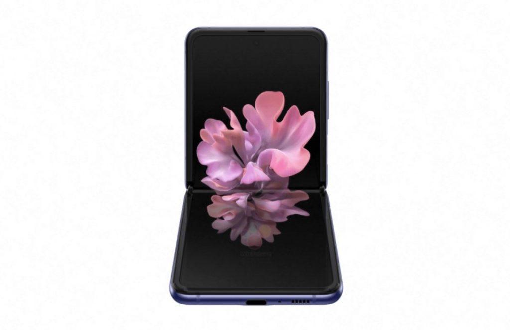 Official renders του Samsung Galaxy Z Flip σε μαύρο και μοβ χρώμα 10
