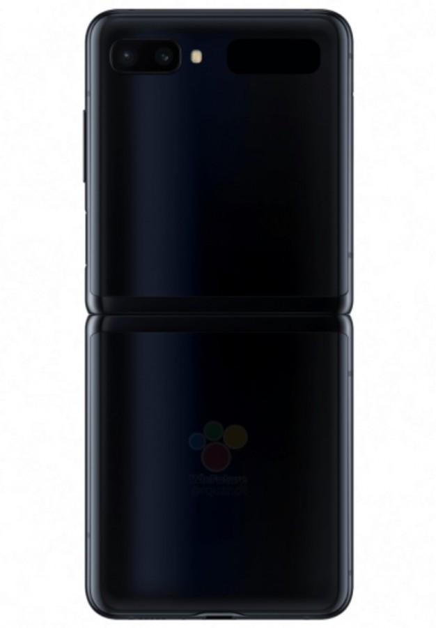 Official renders του Samsung Galaxy Z Flip σε μαύρο και μοβ χρώμα 4