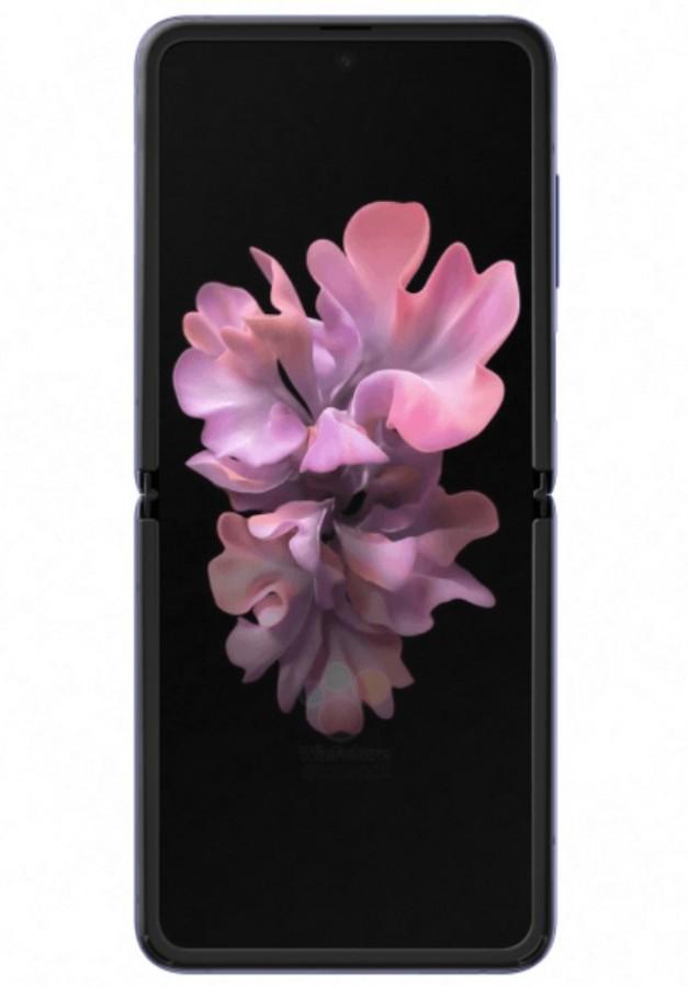 Official renders του Samsung Galaxy Z Flip σε μαύρο και μοβ χρώμα 5