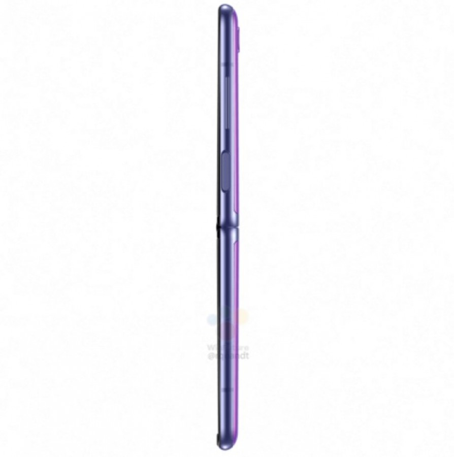 Official renders του Samsung Galaxy Z Flip σε μαύρο και μοβ χρώμα 6