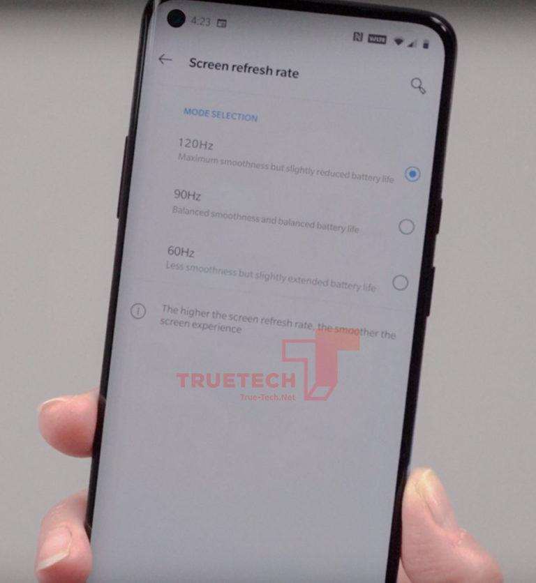 Χθεσινό hands-on βίντεο εμφανίζει τις ρυθμίσεις οθόνης του OnePlus 8 Pro 1