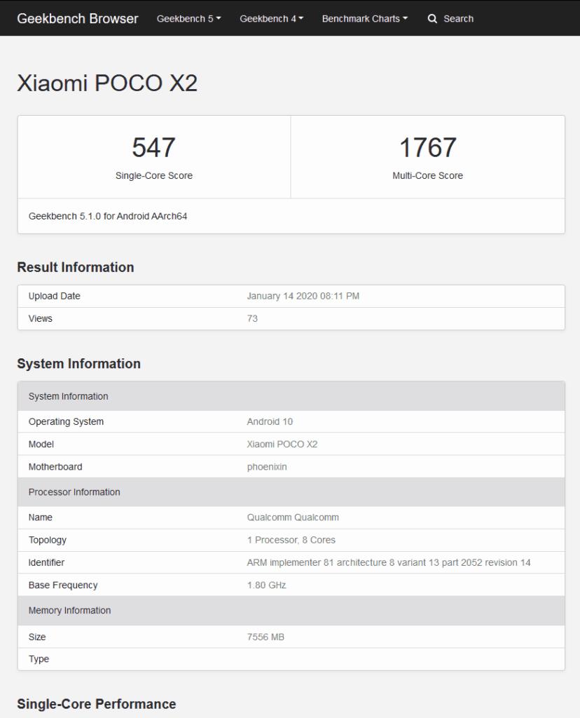 Φαίνεται πως το Xiaomi Poco X2 έρχεται με RAM 8GB και Android 10 2