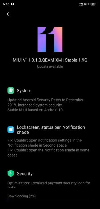 Την σταθερή ενημέρωση σε Android 10 λαμβάνει το Xiaomi Mi 8 1
