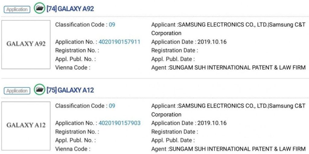 Ήδη έχουν καταχωρηθεί τα ονόματα από νέα smartphone smartphones της σειράς Samsung Galaxy A 4