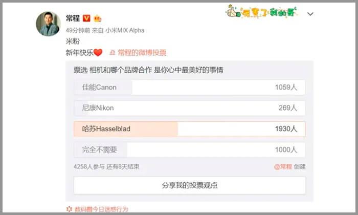 Ανατρεπτική η Xiaomi, καθώς σκέφτεται συνεργασία με Nikon, Canon ή Hasselblad 1