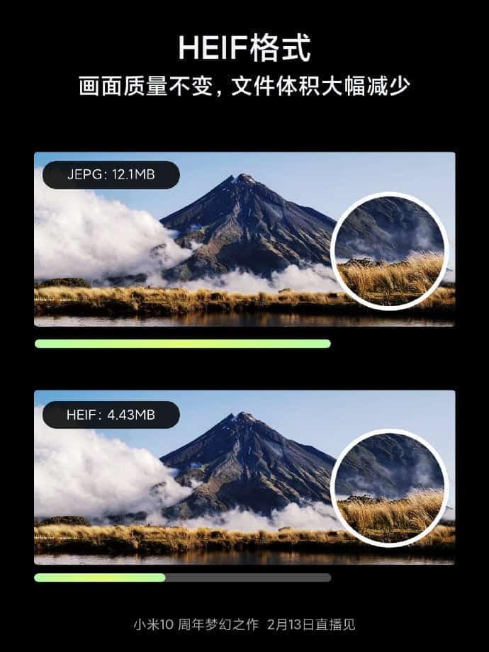 To νέο σύστημα συμπίεσης εικόνων σε μορφή HEIF θα διαθέτει η συσκευή Xiaomi Mi 10 1