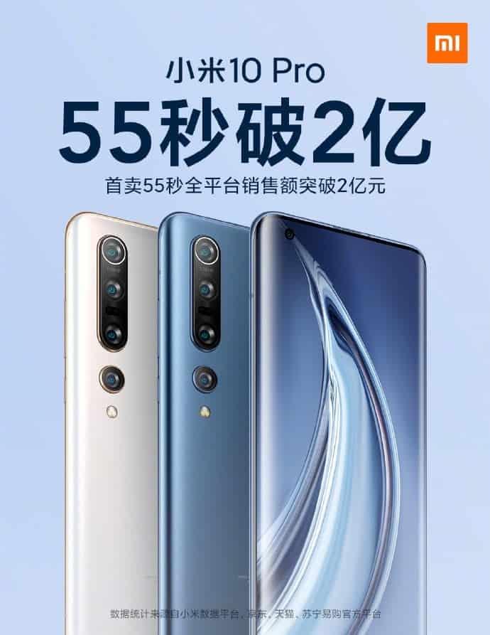 Ούτε λεπτό δεν χρειάστηκε για να γίνει ανάρπαστο το Xiaomi Mi 10 Pro από άποψη πωλήσεων! 1
