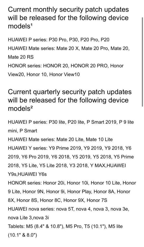 Δεν υπάρχουν πλέον ενημερώσεις λογισμικού για τη σειρά Huawei Mate 10 1