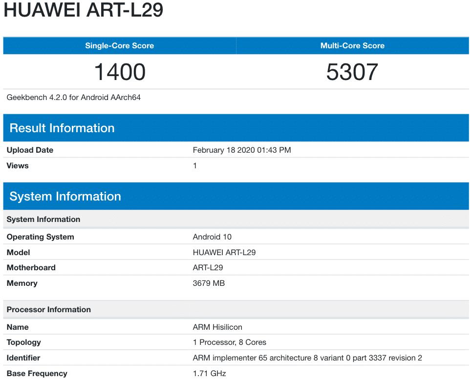 Πλησιάζει η ημερομηνία παρουσίασης των νέων Huawei P40/P40 Pro 5G  και μας το επιβεβαιώνει νέα διαρροή μέσω της ΤΕΝΑΑ 5