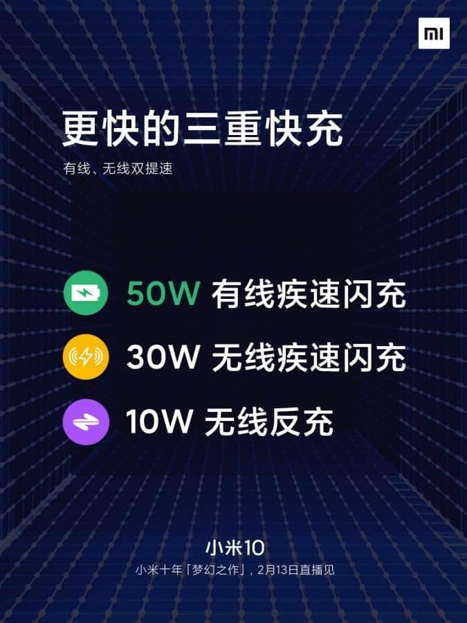Άλλη μια διαφημιστική αφίσα του Xiaomi Mi 10 που αποκαλύπτει οθόνη 90HZ και φόρτιση 50W 1
