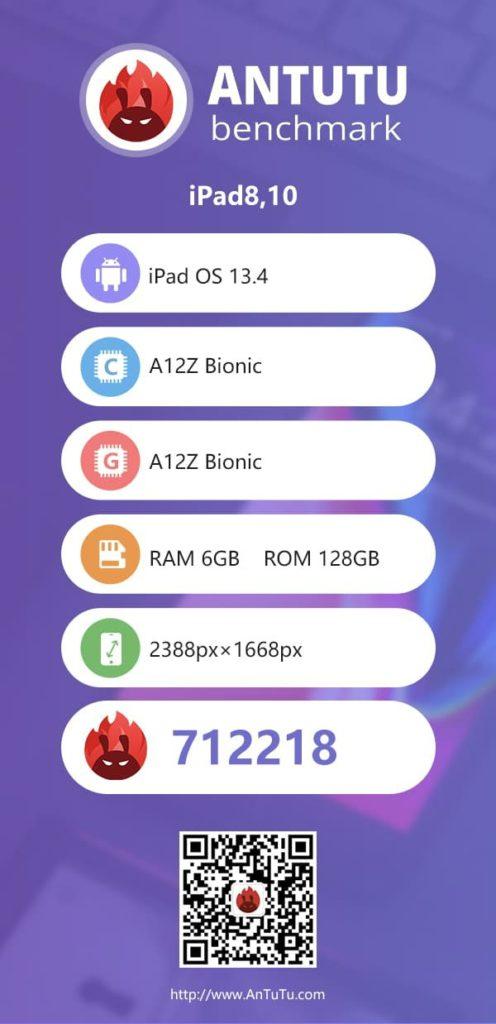 Προς δοκιμή τέθηκε στο AnTuTu το νέο iPad Pro 2020 1