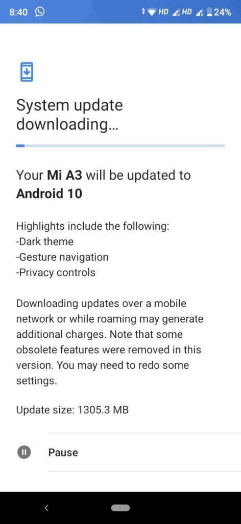 Κάπως αργοπορημένα φθάνει τελικά το νέο Android 10 στο  Xiaomi Mi A3 1
