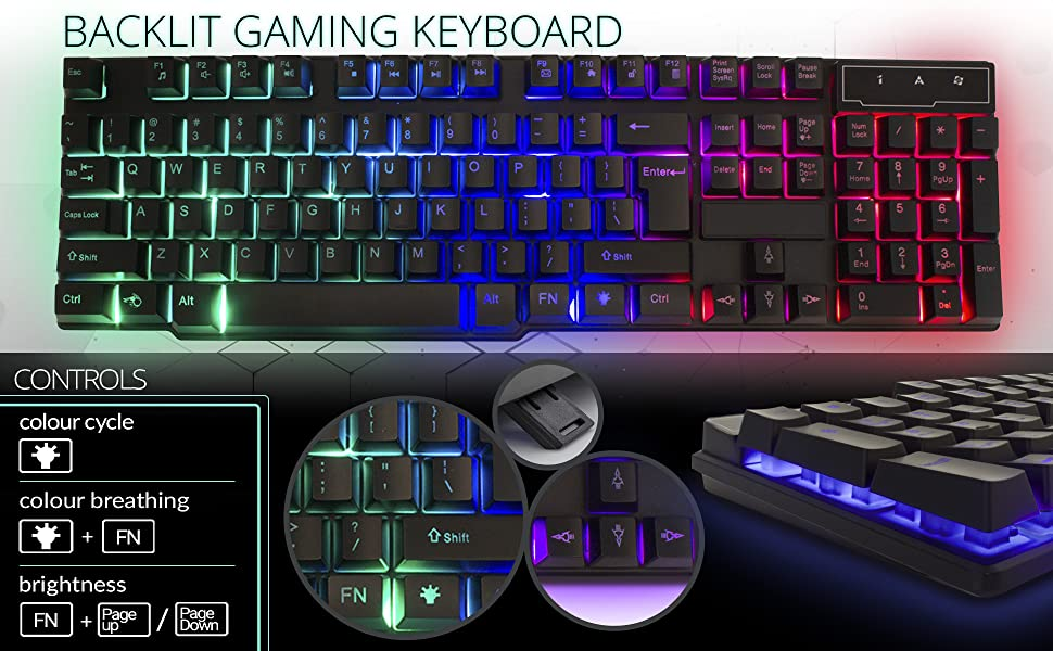 [Kooqie.com]: Τώρα με κόστος μόλις €12,90 απέκτησε ένα πολύ κομψό RGB Gaming Keyboard που συνδέεται με PC, PS4 & Xbox One. 2