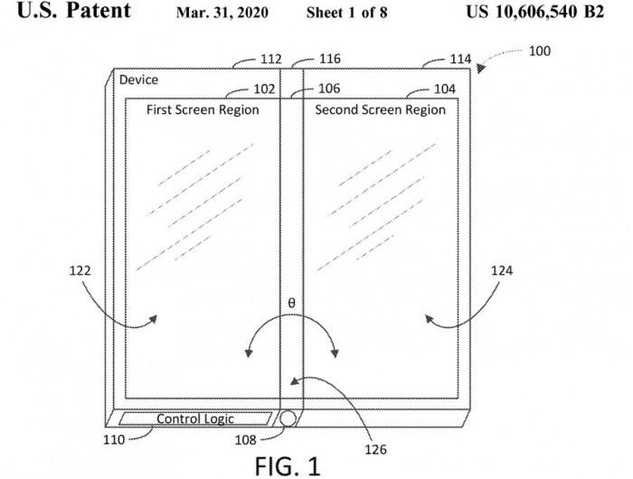 Πτυσσόμενη συσκευή με τρεις οθόνες περιγράφει νέο δίπλωμα ευρεσιτεχνίας της Microsoft 1