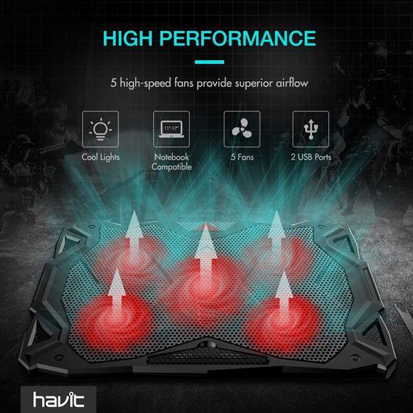 [Kooqie.com]: Πέτυχε την τέλεια ψύξη και την καλύτερη αθόρυβη λειτουργία με την βάση Havit HV-F2068 2