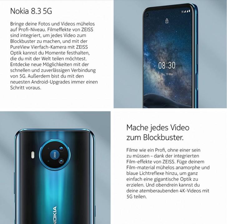 Σύντομα διαθέσιμο στην Ευρώπη το Nokia 8.3 5G, ήδη εμφανίζεται στη λίστα του Amazon Γερμανίας 1