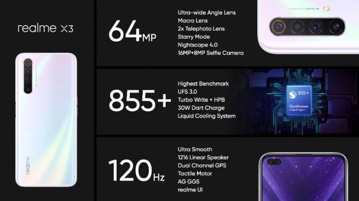 Το Realme X3 κυκλοφορεί επίσημα με τηλεφακό 12MP και chipset Snapdragon 855+ 1