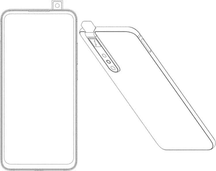 Η Xiaomi κατοχυρώνει με δίπλωμα ευρεσιτεχνίας ένα smartphone με μια selfie αναδυόμενη κάμερα 1