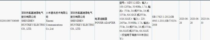 Ο φορτιστής της Xiaomi των 120W λαμβάνει πιστοποίηση 3C 1