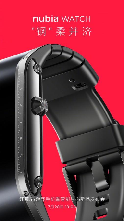 Παράλληλα με το Red Magic 5S, η nubia θα ανακοινώσει και ένα νέο smartwatch 2