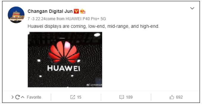 Οι οθόνες υπολογιστών της Huawei φημολογείται ότι βρίσκονται σε στάδιο εξέλιξης 1