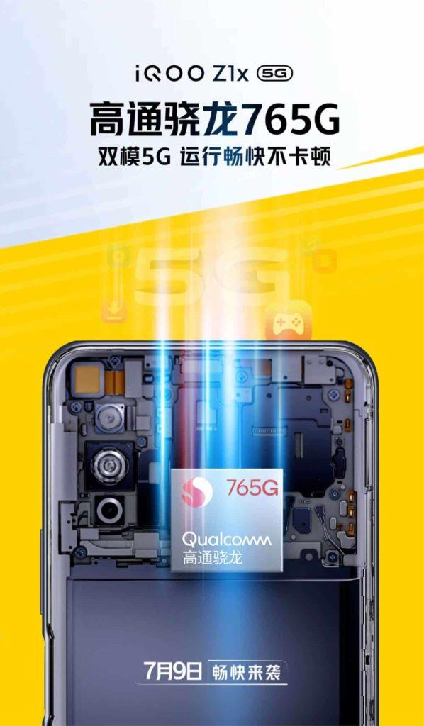 Επίσημα με μια αφίσα, επιβεβαιώνεται πως το iQOO Z1x 5G θα έχει Snapdragon 765G SoC, 1