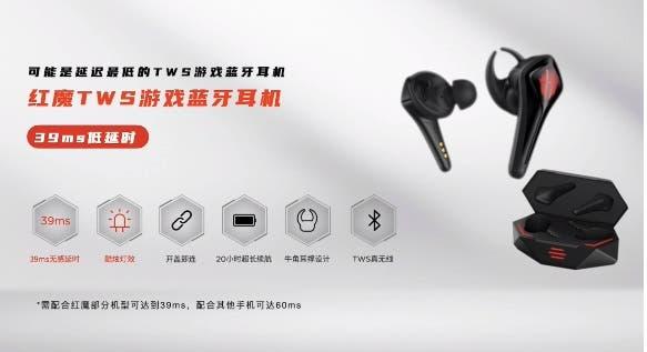 Η Nubia, μαζί με το Red Magic 5s εξέπληξε του πάντες και με τα νέα ακουστικά RED MAGIC TWS 2