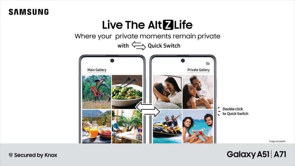 Η Samsung λανσάρει το AltZLife στα Galaxy A71 και Galaxy A51, μια νέα ιδιωτική λειτουργία! 1