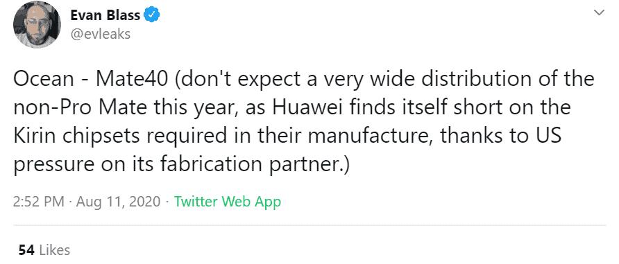 Το Huawei Mate 40 θα έχει περιορισμένες πωλήσεις σε μέρη του κόσμου 1